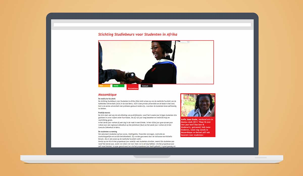 stichting ssa website mozambique