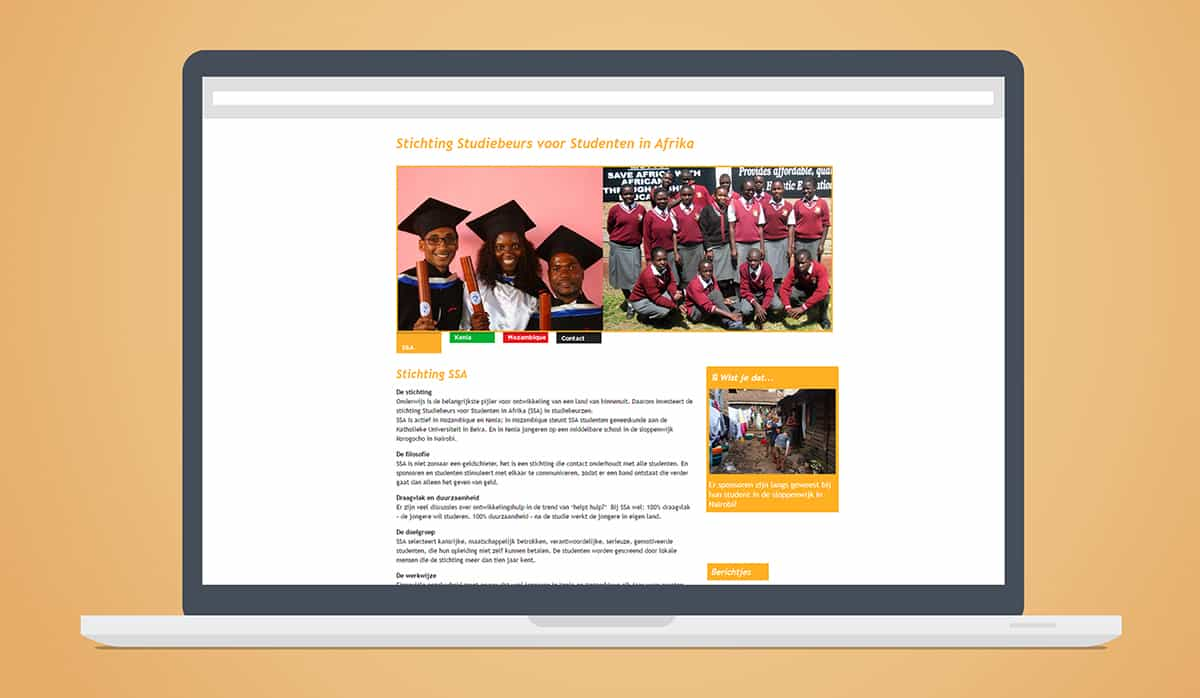 stichting ssa website kenia