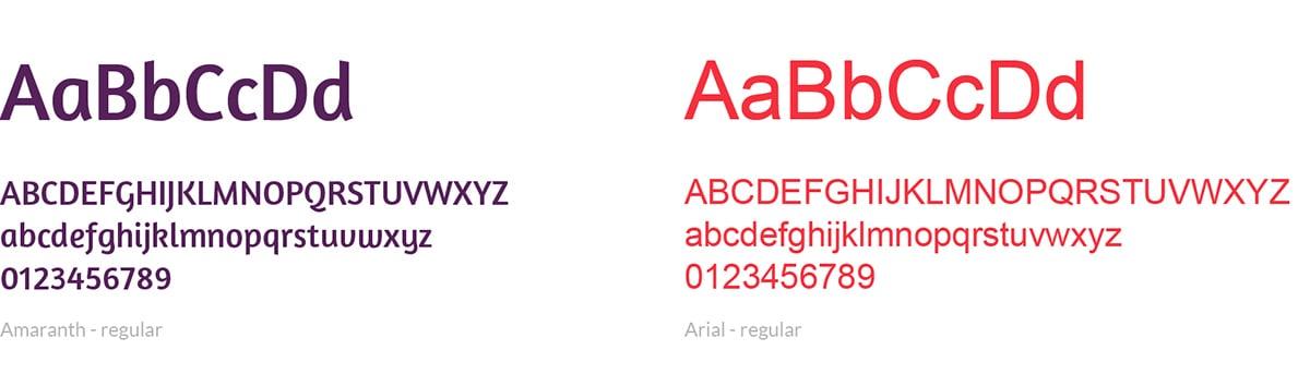lettertype huisstijl, woefjes en boefjes