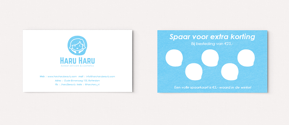 haru haru beauty, visitekaartje