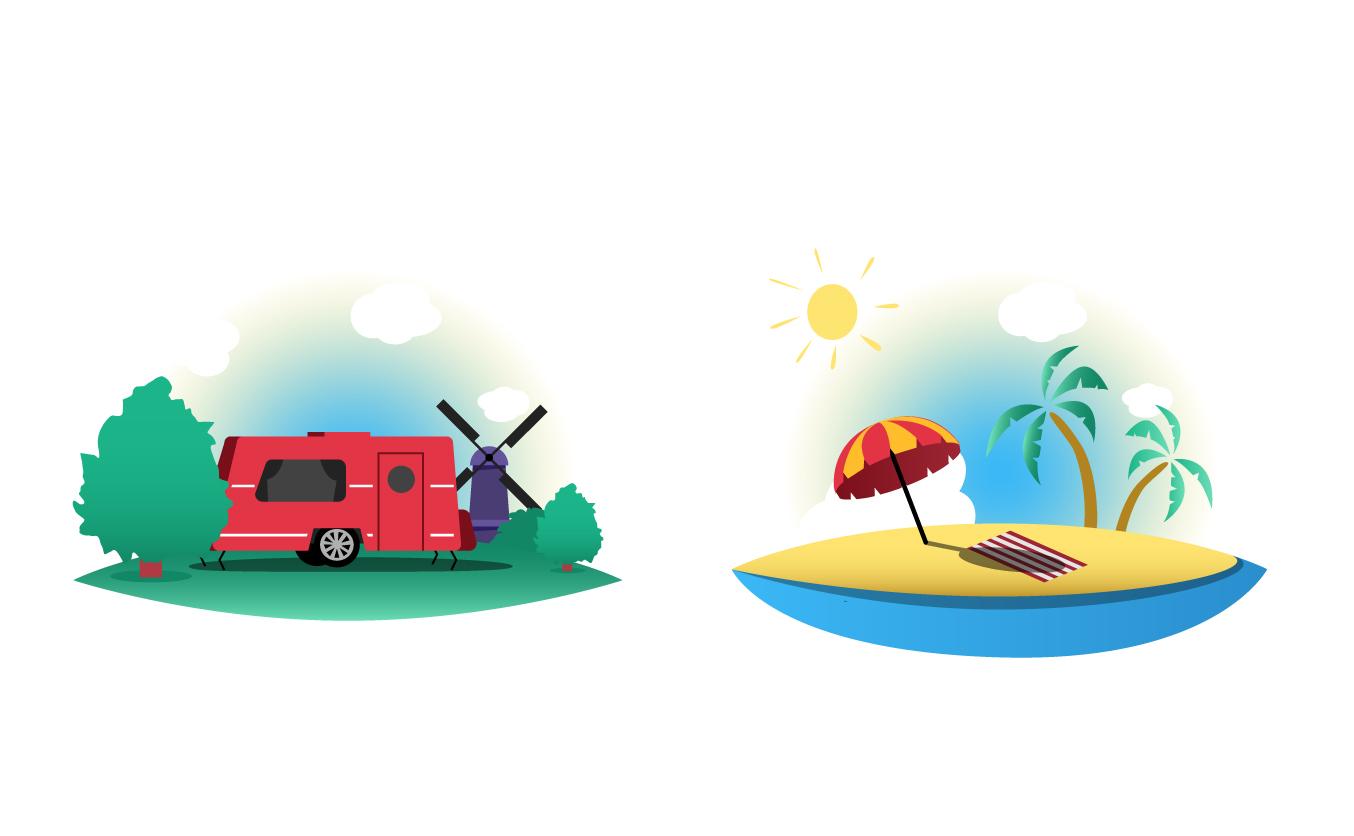 werken aan je toekomst - florian tv network - illustratie vakantie