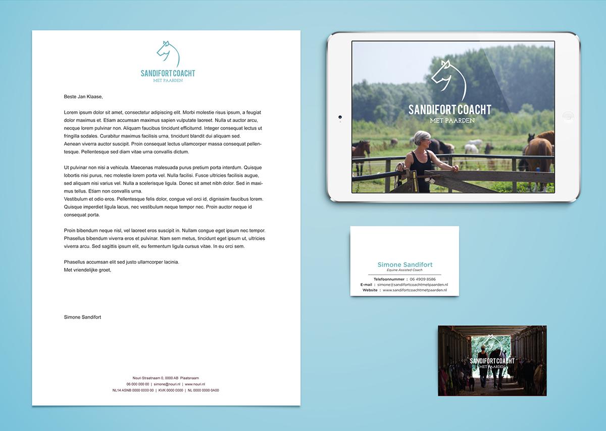 sandifort coacht met paarden website identity